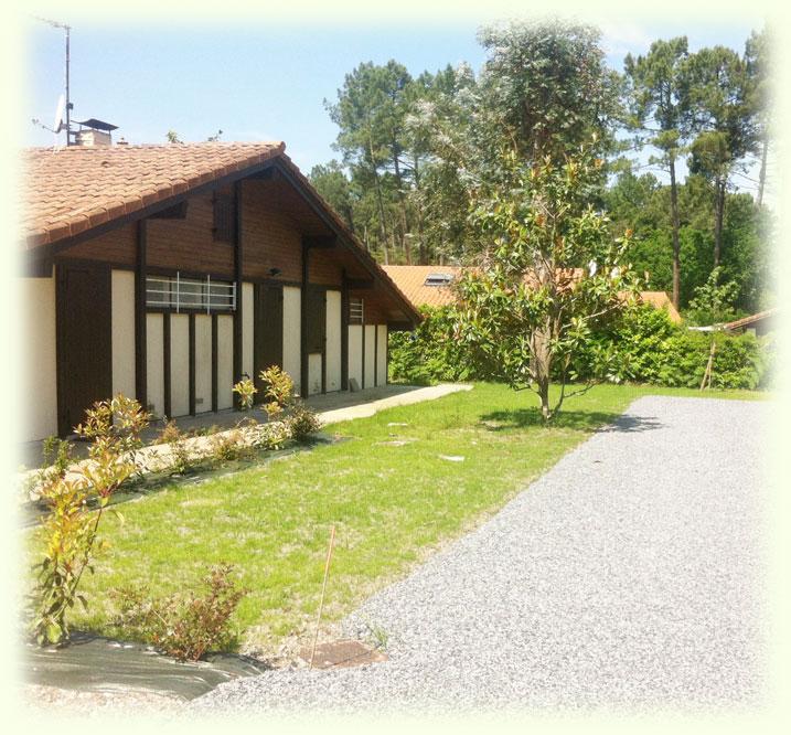 Aménagement paysager - résidence touristique Léon - Landes